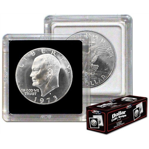 NEW BCW 2X2 COIN SNAP – DOLLAR – BLACK – PACK OF 10