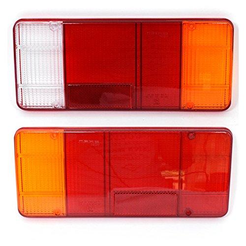 2x Lichtscheibe Heckleuchte Links Rechts Ersatzglas für Rückleuchte