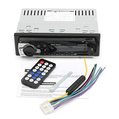 Autoradio Stereo 24V Autoradio con Lettore MP3 Auto Audio Vivavoce Bluetooth USB FM AUX SD (Colore : Nero, Dimensione : Taglia Unica)