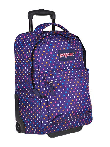 JanSport Wheeled Superbreak, Purple Spot-O-Rama, O/S