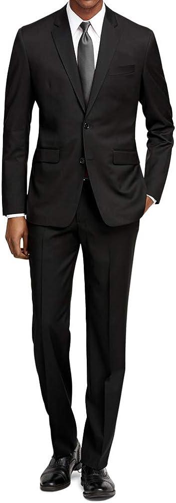 Braveman Mens Suit Slim Fit Two Piece 2 Piece Jacket and Pant Set