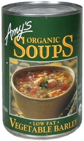 Amy s Organic Vegetable Barley Soup 14 1 Oz Pack of 6 product image