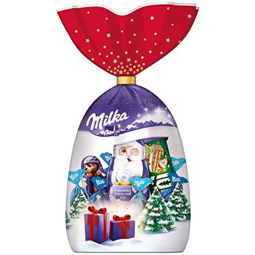 Milka Weihnachtsmischung 1 x 126g, Weihnachtliche Mischung aus Alpenmilch Schokolade