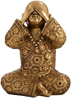 OMING Estatua de Mesa Jujin Buda Adornos luz Oficina Sala de Estar Estudio Hogar Manualidades Arte Hay Dos Opciones...
