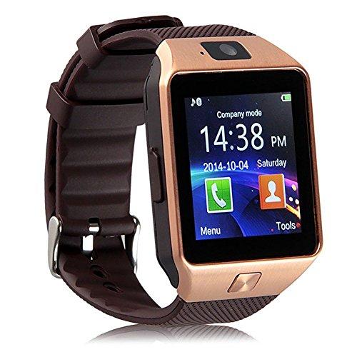 Padgene DZ09 Smart Watch - Reloj de pulsera con Bluetooth para cámara con ranura para tarjeta SIM 2.0, compatible con Android Samsung Htc LG Sony Blackberry Huawei Smartphone-Best Gifts