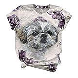 Camiseta Mujer Verano Casual Talla Grande, Morbuy 3D Lindo P