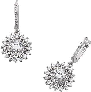 Bevilles Sterling Silver Cubic Zirconia Drop Earrings