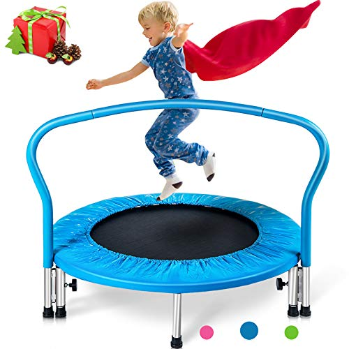 Mini Trampoline With Handrail for Kids