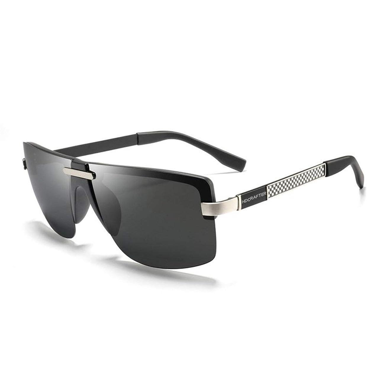 移住する人質チップHYBJP サングラス メンズ 釣り バイク ゴルフ 軽量 スポーツ 紫外線カット (Color : Silver)