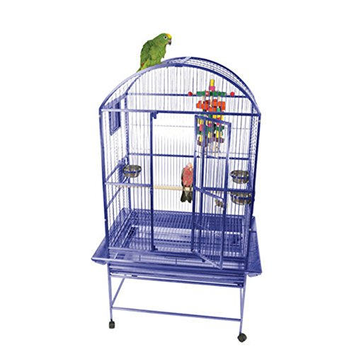 A&E Cage 9003223 Black Dome Top Bird Cage with 3/4