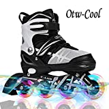 Otw-Cool Adjustable Inline Skates for Kids and Adults, Outdoor Blades Roller...