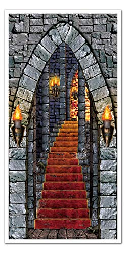 A Beistle Creation Castle Entrance Door Cover, 30-Inch by 5-F