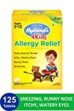 Allergy Pills for Kids Ages 2+ by Hyland's 4Kids, Non Drowsy Childrens Allergy Relief Quick Dissolving Tablets, Safe and Natural for Indoor & Outdoor Allergies, 125 Count