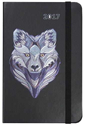 Idena 10662-Agenda Calendario Agenda 2017, FSC-Mix, diseño de lobo