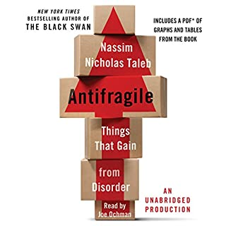 Antifragile     Things That Gain from Disorder              Written by:                                                                                                                                 Nassim Nicholas Taleb                               Narrated by:                                                                                                                                 Joe Ochman                      Length: 16 hrs and 14 mins     89 ratings     Overall 4.4