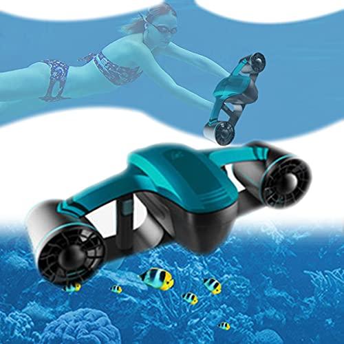 EnweNge Scooter Submarino con Pantalla OLED Impermeable 147 Pies Capacidad De Batería Recargable 10000 Mah para Deportes Acuáticos, Buceo, Snorkel Y Aventuras En El Mar,Azul