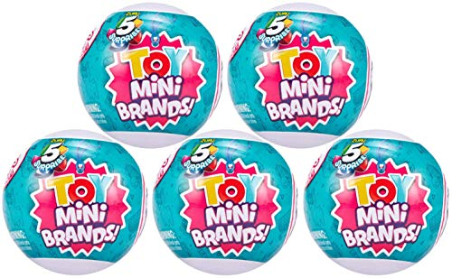 ZURU 5 Surpise Toys Mystery Capsule Real Miniature Brands Collectible Toy (5pack) - Series 3