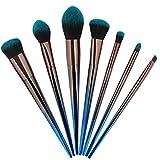 Brochas de maquillaje 7 Diamond Handle Makeup Brush Set Herramientas de belleza multifuncionales for mujeres (Color : Gradient)