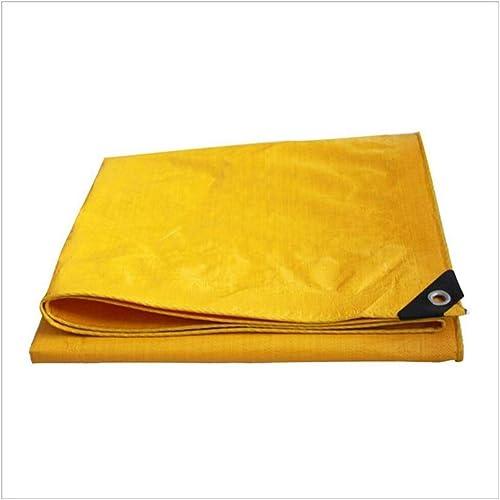 XJLG-Bache Tissu imperméable Bache imperméable à l'eau, bache de Prougeection Solaire Anti-Pluie Jaune, Camion abritant l'ombre extérieure de Tissu antipoussière et Coupe-Vent Tente de Camping en Plein