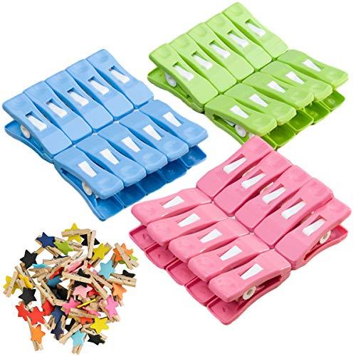 Wasknijpers, hoogwaardige design wasknijperset, nietjes gemaakt van stevig plastic, set van 30 wasknijpers nietjes…