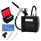 Voilamart Airbrush Kit with Compressor 0.3mm 7cc Dual Action Airbrush for Makeup Nail Art Painting Tattoo...