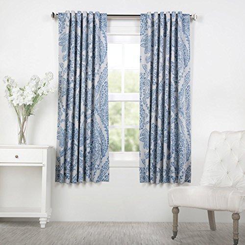 HPD Half Price Drapes BOCH-KC16072-63 Blackout Room Darkening Curtain (1 Panel), 50 X 63, Tea Time China Blue