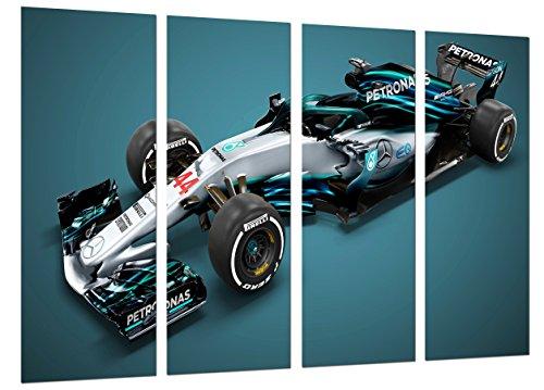 Poster Fotográfico Formula 1Coches,Mercedes F1W09, Mercedes F12018, Lewis Hamilton, Valtteri Bottas Tamaño total: 131 x 62 cm XXL