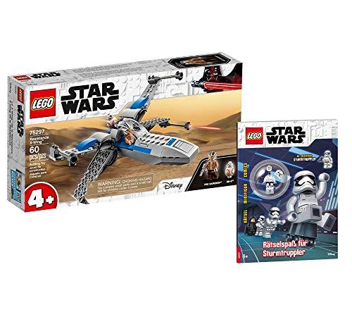 Collectix Lego Set - Star Wars Resistance X-Wing 75297 + Star Wars Rätselspaß für Sturmtruppler (Softcover)