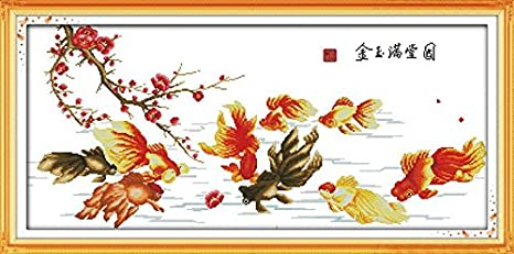 Joy Sunday Cross Stitch kits Gold and jade fill the hall 98cm/×48 or 38.22/×18.72 11CT Counted