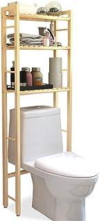 Douche Organisateur sur Les Toilettes Multifonctionnel Salle de Bains Space Saver 3 Couches de Bain Support de Rangement a...