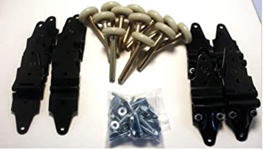Box Truck Roll up Door Hinge and Roller Kit - Whiting Style Hardware: Number of Panels: 5 Panel Door, Without Brackets