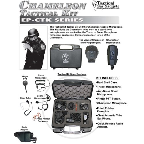 Best Review Of CHAMELEON QR Tactical Kit for Harris / Macom Jaguar Two-Way Radios (See List)