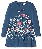 boboli 424077 Vestido, Azul (Atlantic), 98 (Tamaño del Fabricante:98cm) para Niñas
