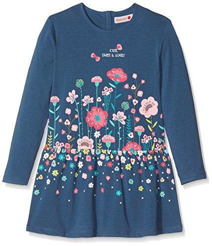 Boboli Mädchen Knit Stretch Dress for Girl Kleid, Blau (Atlantic 2388), 98