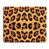 AOKSUNOVA Alfombrilla de ratón para Juegos Alfombrilla ratón Personalizada de Oficina con Motivo 240 x 200 x 3 mm, Goma Antideslizante, diseño Leopardo
