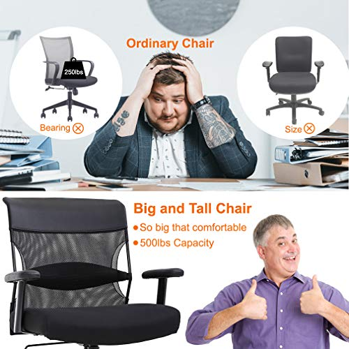BestMassage Big and Tall Office Chair Wide Seat Desk Chair