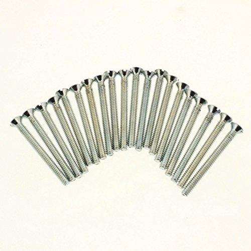 20 Extra Long 1-1/2' 6-32 Thread Flat Head Device Mounting Screws 1563220