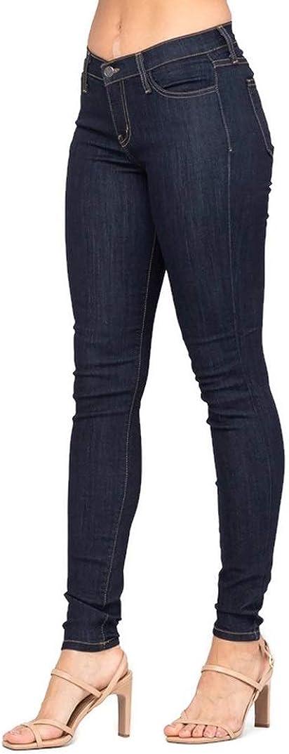 Judy Blue Women's Stretch Indigo Five Pocket Mid Rise Skinny Jeans