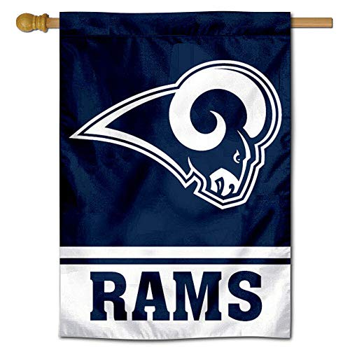 WinCraft LA Rams White Horns Two Sided House Flag