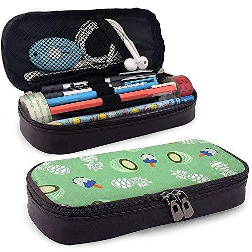 Kokosnuss Ananas und Eis Pu Leder Federmäppchen Tasche mit Reißverschluss niedlichen Stift Federmäppchen Box Schreibwaren Box