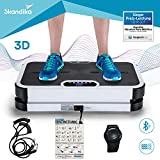 skandika Home Vibration Plate 900 Plus / 900 Smart - Plateforme vibrante oscillante 3D - 5 Programmes - 2 Moteurs - Sangles élastiques - Bluetooth - Télécommande (900 Plus Noir)