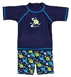 Landora® Baby- / Kleinkinder-Badebekleidung 2er Set mit UV-Schutz 50+ und Oeko-Tex 100 Zertifizierung in blau; Größe 86/92