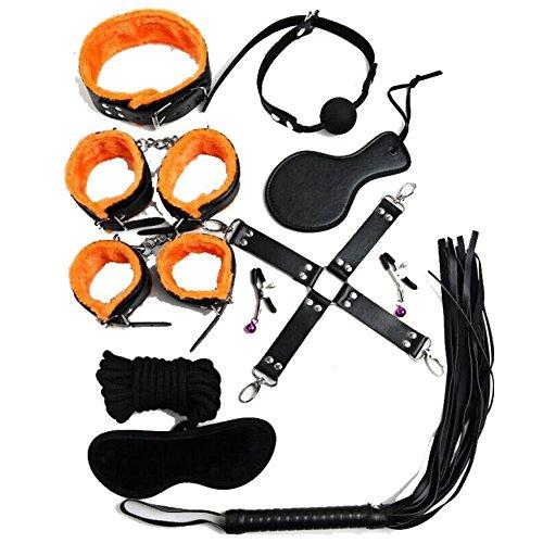 """BONDAGERIE Kit""""Orange"""" in Ecopelle 10 pezzi, sacco in raso in omaggio"""