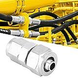 Acoplador Reductor de unión Reductor de Accesorios de tubería de Perilla rápida de Montaje de Aire para tubería neumática(Reduced Diameter 10-8mm)