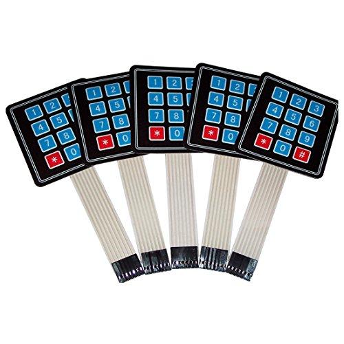 CUHAWUDBA 5 PCS 4X3 Matrix Array 12 Tasten Folientastatur, für/AVR/PIC USA SHIP