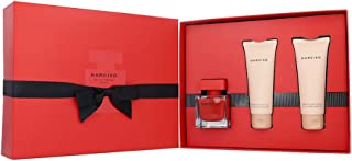 NARCISO RODRIGUEZ Narciso Rouge For Women Eau De Parfum, 50 ml+75 ml Scented Body Lotion+75 ml Scented Shower Gel Set