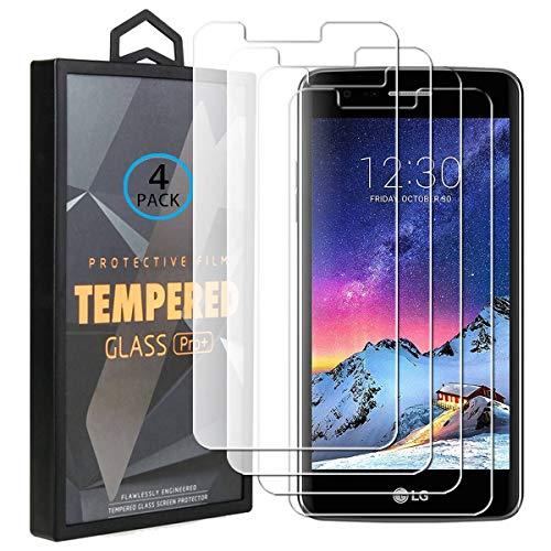 Ycloud 4 Pack Vidrio Templado Protector para LG K8 2017, [9H Dureza, Anti-Scratch] Transparente Screen Protector Cristal Templado para LG K8 2017