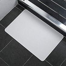 Large Super Dry Diatom Bathroom Bath Mats Anti-Slip Foot Shower Bathroom Bedroom Floor Pad Mat Rugs 60x39cm AU Present (Grey)