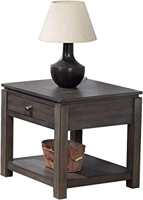 Sunset Trading Shades of Gray End Table, Weathered Grey