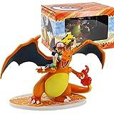 Qwead Juego De Anime Pokemon Charizard Ketchum Figura De Acción Modelo De Juguete Coleccionable Diorama Juguetes Regalo 16Cm